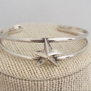 Silver Star Cuff Bracelet